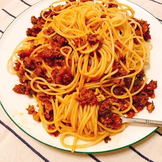 味吉陽一特製ナス巻きミートソーススパゲティ&丸井善男特製クルミ入りミートソーススパゲティ22