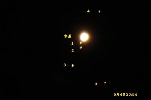 木星とガリレオ衛星(2018)