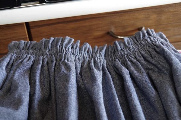 コットンシャンブレー スカート