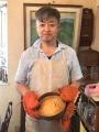 4料理教室7バナナケーキ 男子エプロン