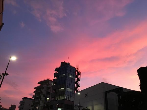 IMG_0518西日暮里夕焼け
