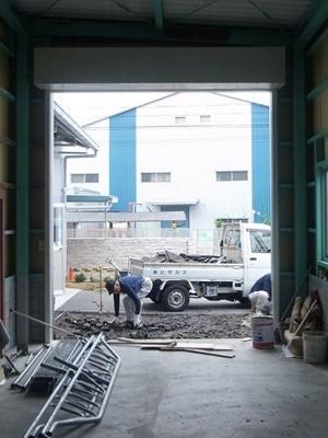 hitachi倉庫外構工事1806