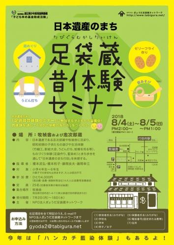 日本遺産のまち足袋蔵昔体験セミナー2018