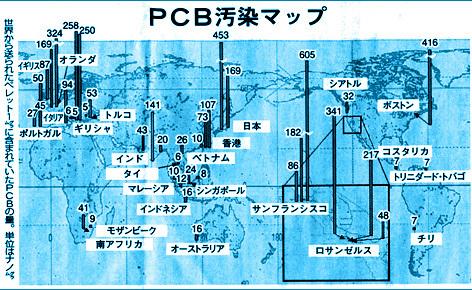 PCB汚染マップ