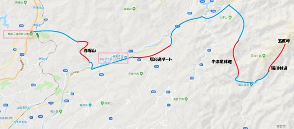 GW四国林道ツー2018day3-001map
