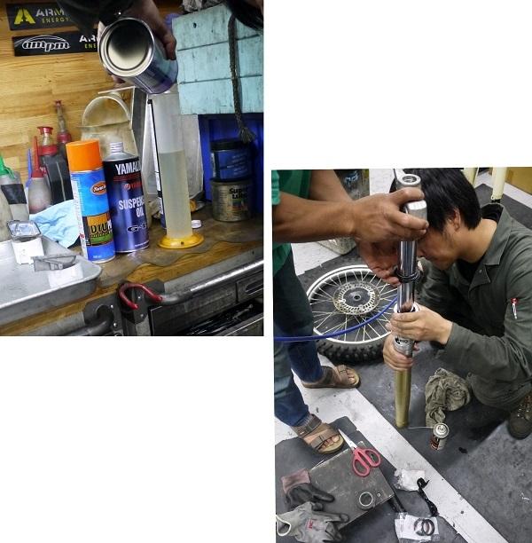 XR Fフォークオイル漏れ1806-005b