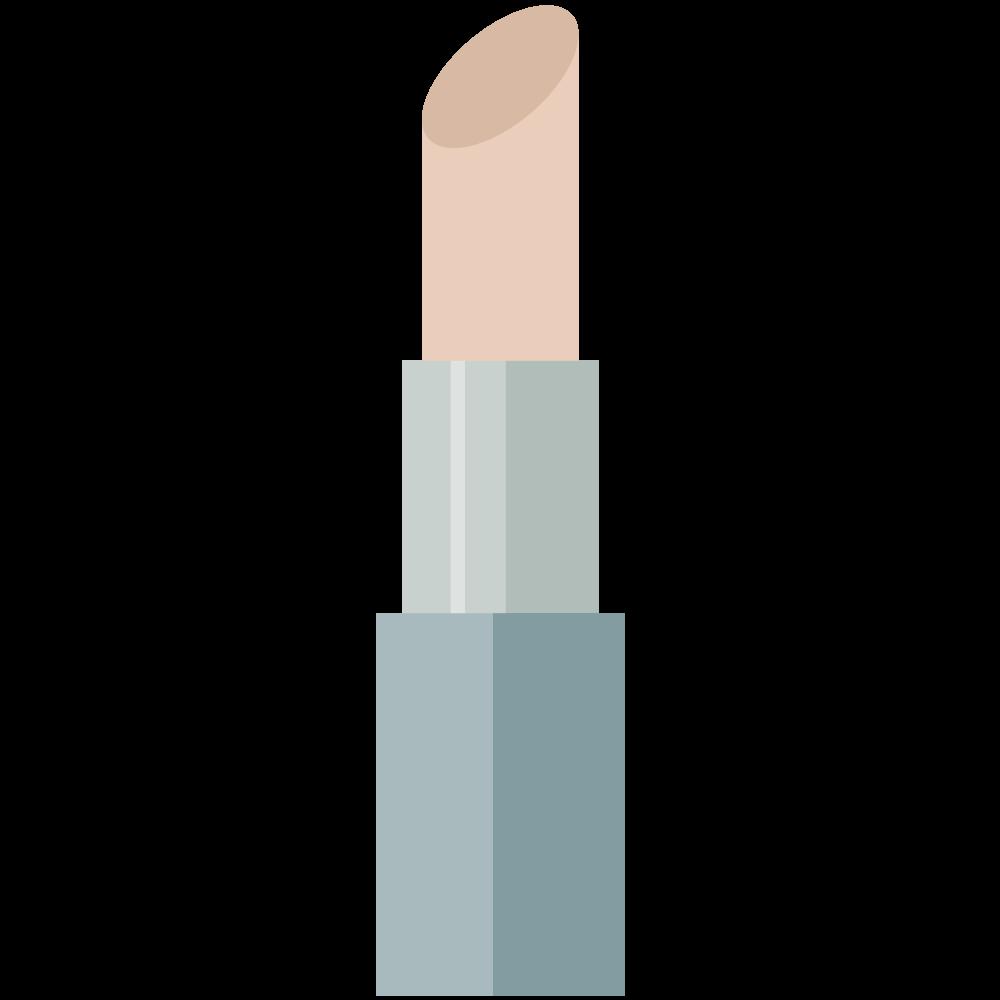 シンプルでかわいい口紅のイラスト