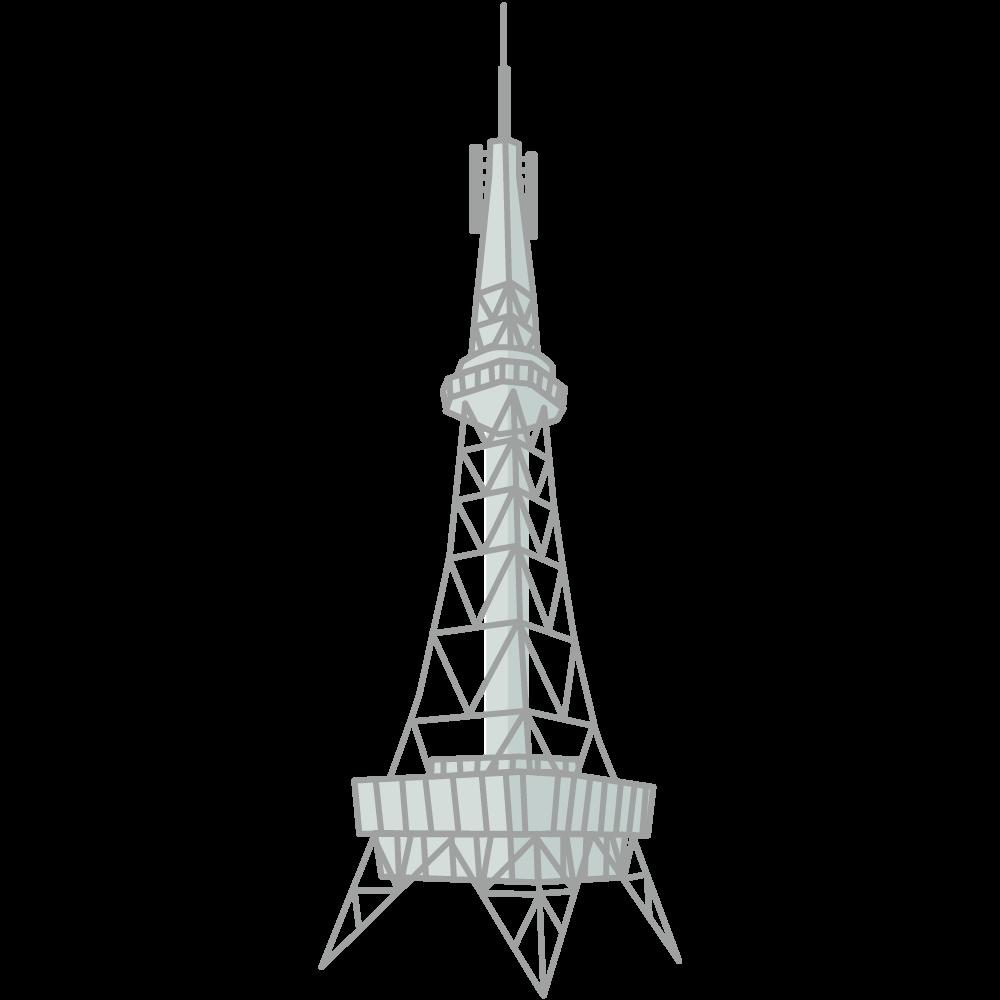シンプルでかわいい名古屋テレビ塔アイコン