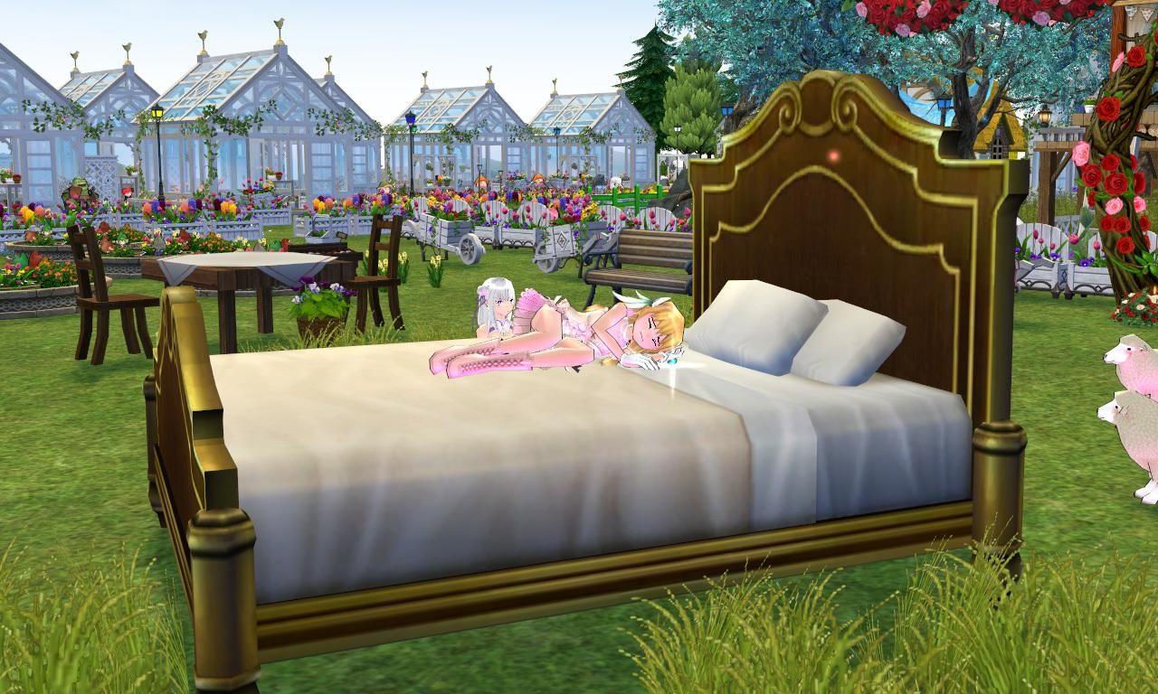 エミリアのベッド1