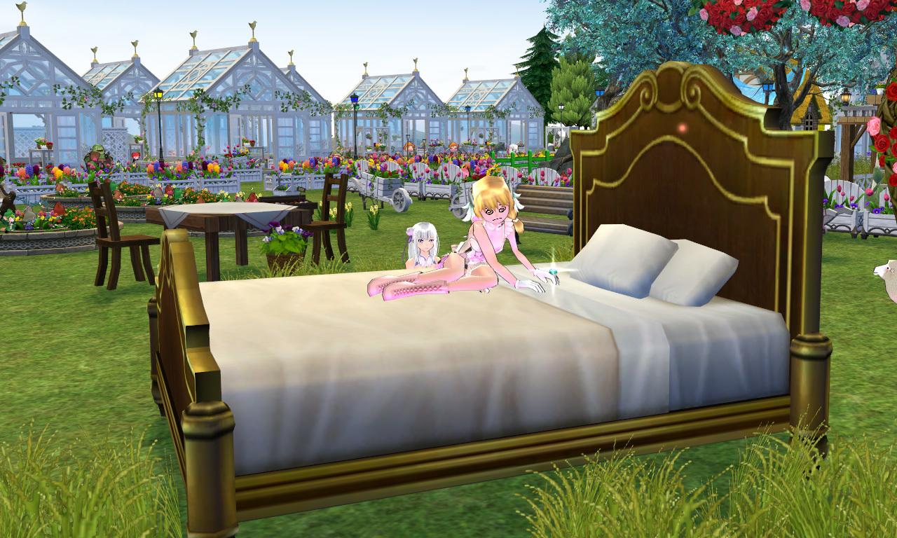 エミリアのベッド2