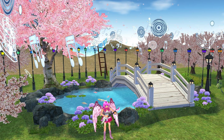 マリンナーサの桜の木と池1