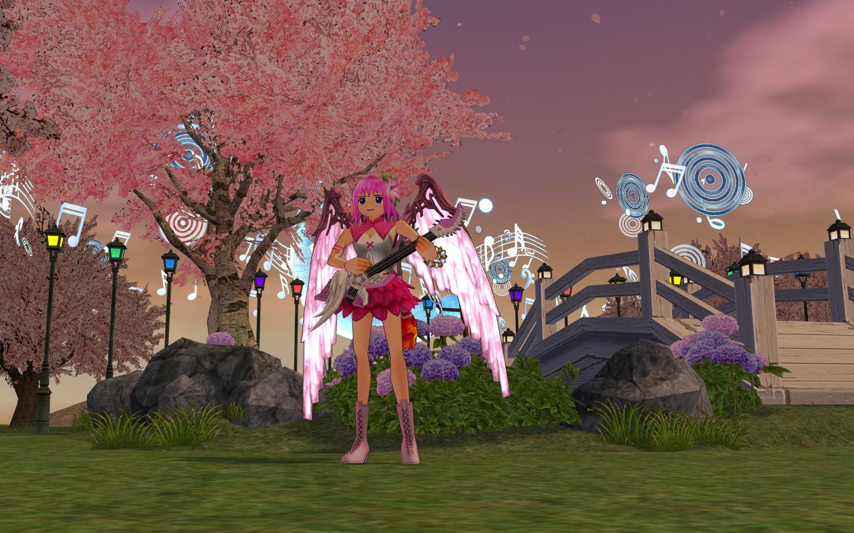 マリンナーサの桜の木と池2