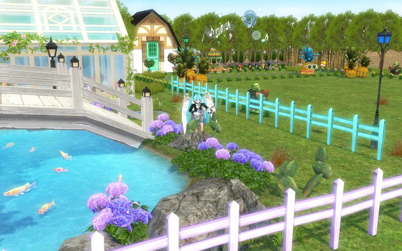画架座のミクの桜の木と池2