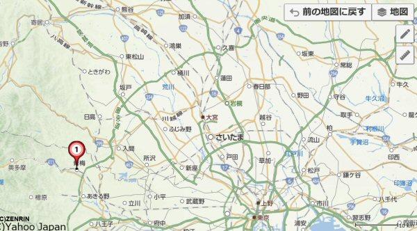 青梅市地図