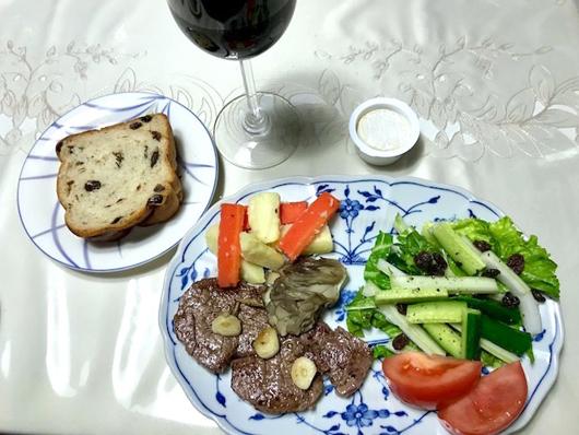 短角牛と赤ワイン