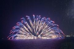 シーポートちゃたんカーニバル 海上花火 水上花火