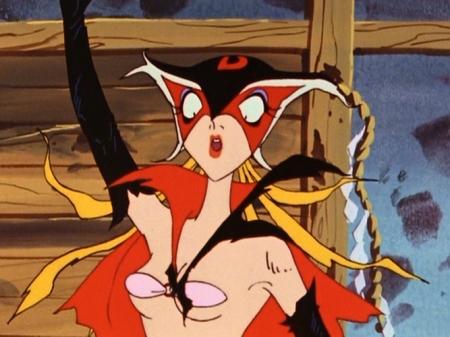 ヤッターマン1977  ドロンジョ様の胸裸ヌード下着姿ブラ118