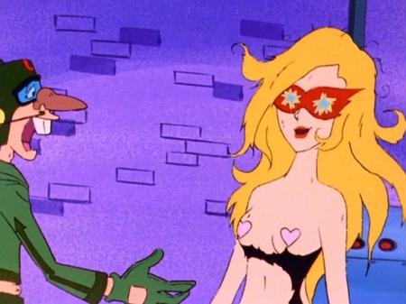 ヤッターマン1977  ドロンジョ様の胸裸ヌード下着姿ニプレスブラジャー121