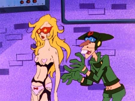 ヤッターマン1977  ドロンジョ様の胸裸ヌード下着姿ブラパンツ122