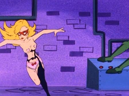 ヤッターマン1977  ドロンジョ様の胸裸ヌード下着姿ブラパンツ123