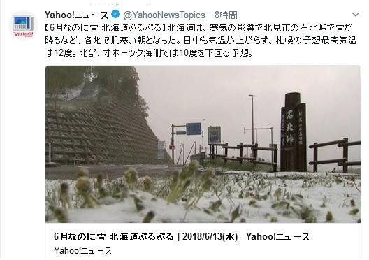 北海道北部寒波