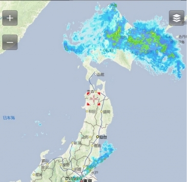 北海道 雨雲 6 12