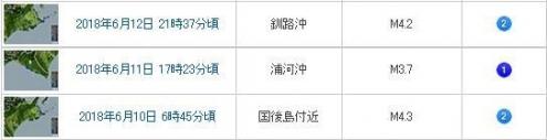 北海道東部地震
