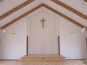 教会2F礼拝堂養生撤去
