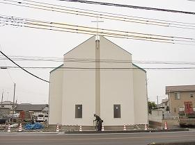 教会外部足場解体
