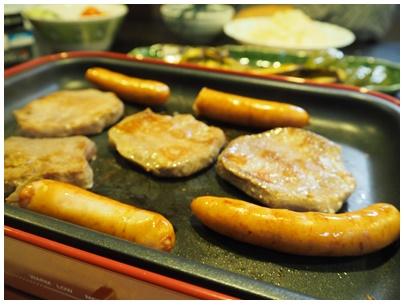 厚切り牛タンと野菜焼きの日1