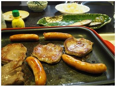 厚切り牛タンと野菜焼きの日2