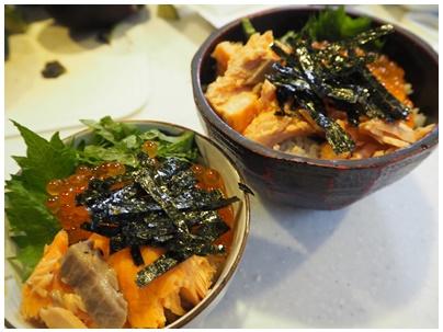鮭とイクラの親子丼2