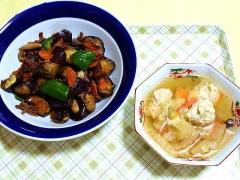 CAI_180621_5184 合挽きミンチと茄子のコチュジャン炒め・生姜入り鶏団子と白菜のつみれ汁_VGA