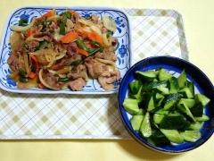 CAI_180702_5193 豚肉と野菜の味噌オイスター炒め・胡瓜の山椒和え_VGA