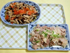CAI_180702_5194 しめじと鶏肉の照り焼き・豚しゃぶと大根のサラダ_VGA