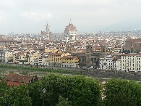 5 ミケランジェロ広場からフィレンツェの景色