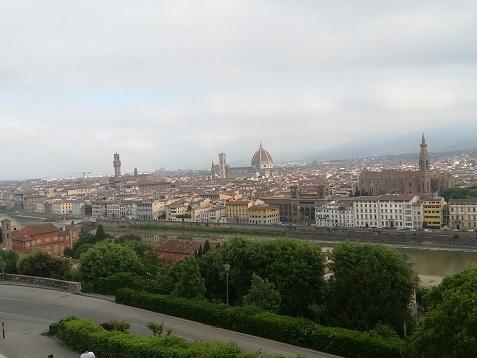 4 ミケランジェロ広場からフィレンツェの景色