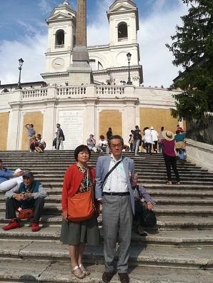 3 スペイン広場にて