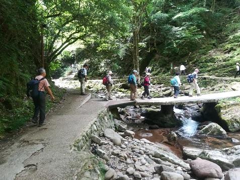 5 滝を歩く 出発