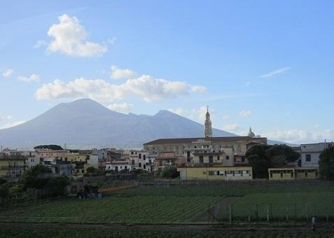 12 ヴェスヴィオ山が見えた