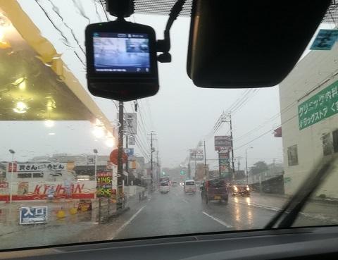 4 下関郊外は降雨