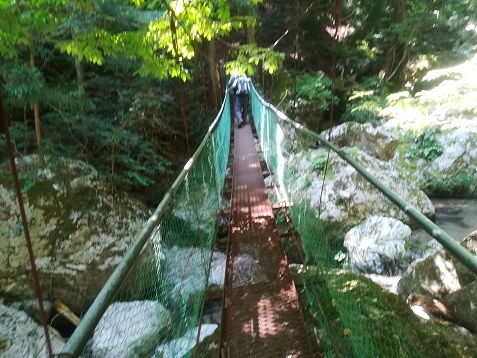 7 琵琶の滝へ向かう
