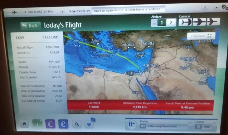 33 シナイ半島の上空を飛行中