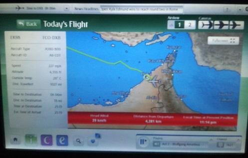 39 ドバイ国際空港へ着陸寸前