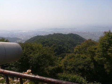 6 六甲ケーブル・頂上駅の展望テラスよりの景色