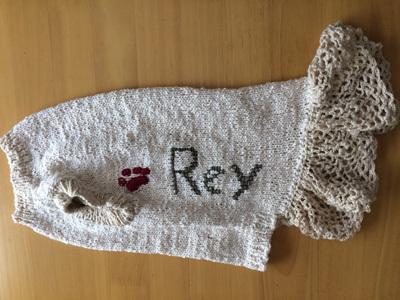 レイたんのサマーセーター編み直し1