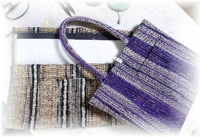 裂き織りトート24