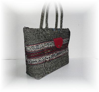 裂き織りバッグ13-1