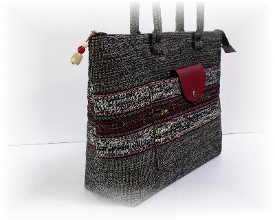 裂き織りバッグ13-3