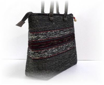 裂き織りバッグ13-4